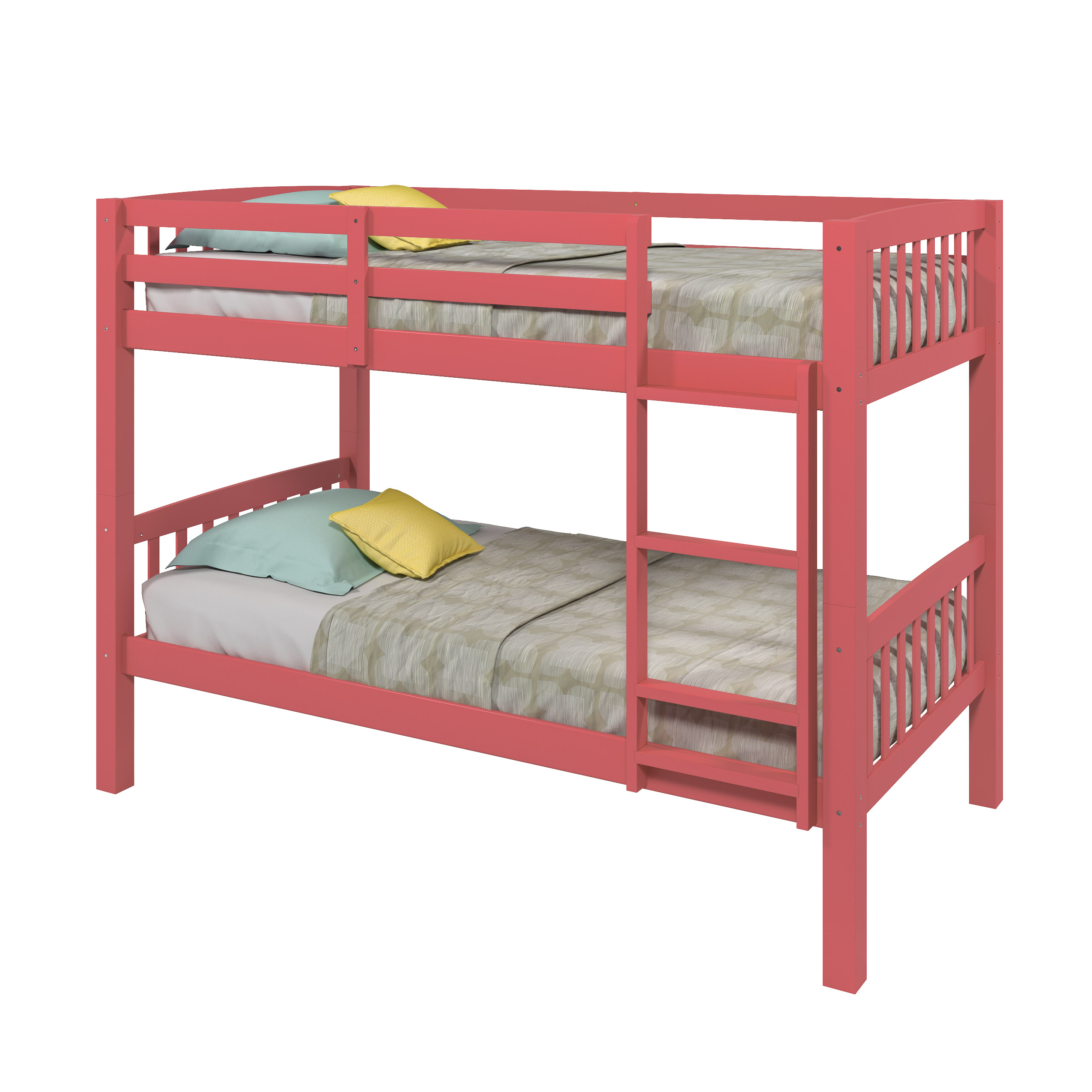 Picture of: Corliving Bunk Bed Twin Single Pink Lowe S Canada