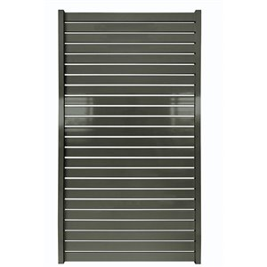 Stratco Quick Screen Aluminum Gate - 40-in x 71-in - Slate Gray