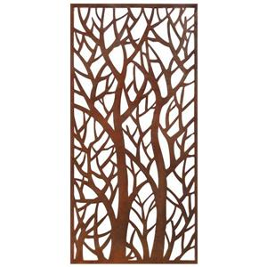 Stratco Forest Aluminum Privacy Screen/Wall Art - 48-in x 24-in - Brown