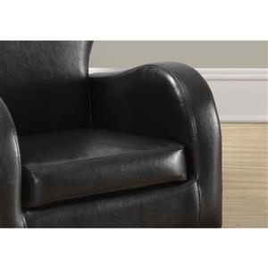 Monarch Kids Faux Leather Chair -  Dark Brown