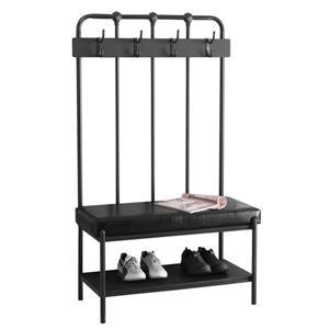 Monarch Contemporary Indoor Bench - 60-in - Grey/Metal
