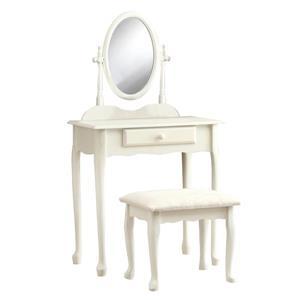 Monarch Makeup Vanity Set - 2 Pieces - Antique White