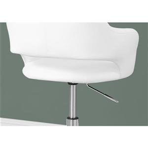 Monarch Faux Leather Office Chair - White