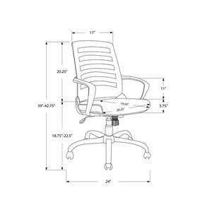 Monarch Contemporary Mesh Office Chair - White/Grey