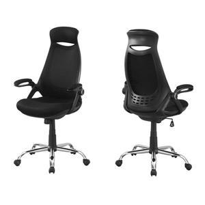Monarch Contemporary Mesh Office Chair - Black/Chrome