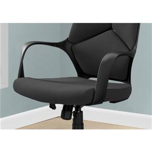 Monarch Contemporary Fabric Office Chair - Black