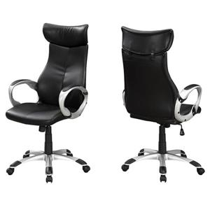 Monarch Faux Leather Office Chair - Black