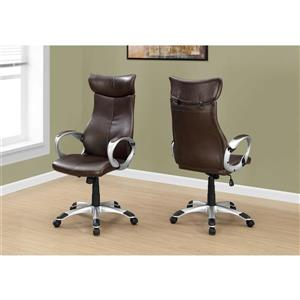 Monarch Faux Leather Office Chair - Brown
