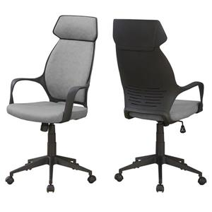 Monarch Microfiber Office Chair - Grey