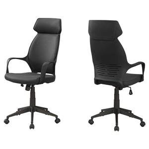 Monarch Microfiber Office Chair - Black