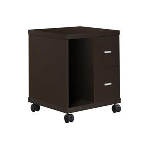 Monarch Contemporary Office Cabinet - Cappuccino - 23-in H