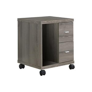 Monarch Contemporary Office Cabinet - Dark Taupe - 23-in H