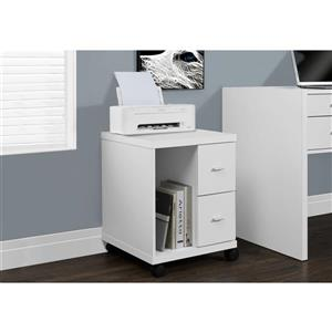 Monarch Contemporary Office Cabinet - White - 23-in H