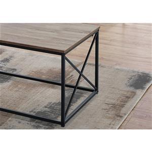 Monarch Metal Table Set - 3 Pieces - Dark Taupe/Black