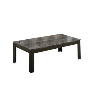 Monarch Metal Table Set - 3 Pieces - Black/Grey Marble