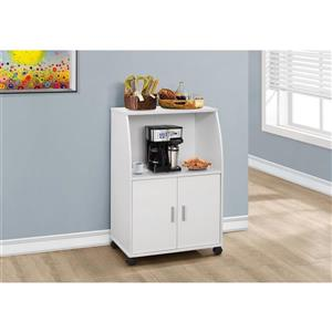 Monarch Kitchen Cart - 33-in - White