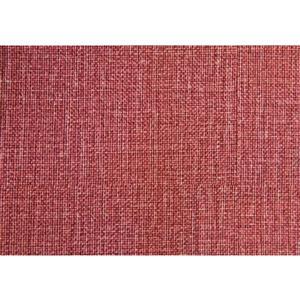 Monarch Faux Linen Ottoman - Light Red