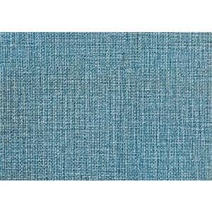 Monarch Faux Linen Ottoman - Light Blue