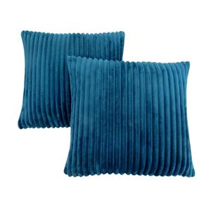Monarch Decorative Pillow - 2 Pack - 18-in x 18-in- Blue