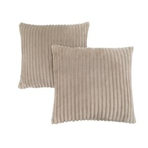 Monarch Decorative Pillow - 2 Pack - 18-in x 18-in - Brown