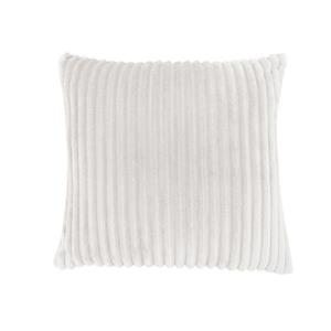 Monarch Decorative Corduroy Pillow - 18-in x 18-in - Off-white