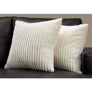 Monarch Decorative Pillow - 2 Pack - 18-in x 18-in - Off-white