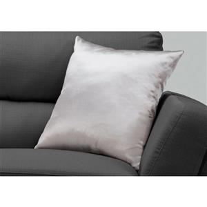 Monarch Decorative Corduroy Pillow - 18-in x 18-in - Silver