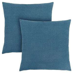 Monarch Decorative Pillow - 2 Pack - 8-in x 18-in - Blue