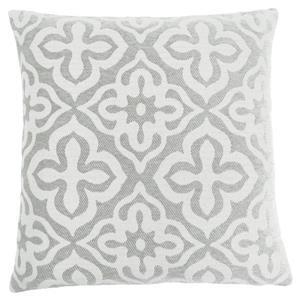Monarch Decorative Corduroy Pillow - 18-in x 18-in - Grey