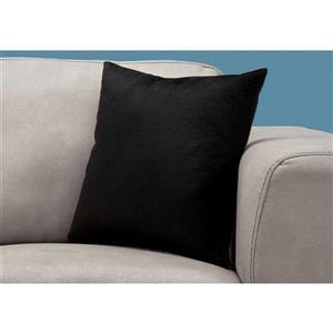 Monarch Decorative Corduroy Pillow - 18-in x 18-in - Black