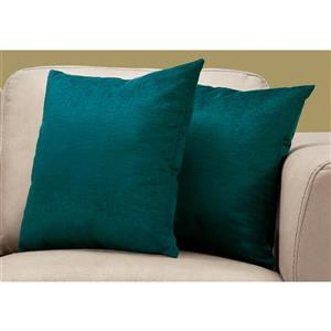 Monarch Decorative Pillow - 2 Pack - 18-in x 18-in - Green