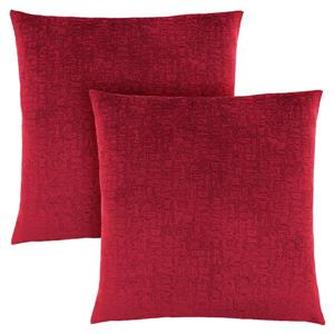 Monarch Decorative Pillow - 2 Pack - 18-in x 18-in - Red
