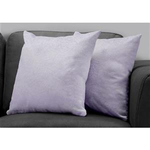 Monarch Decorative Pillow - 2 Pack - 18-in x 18-in - Purple
