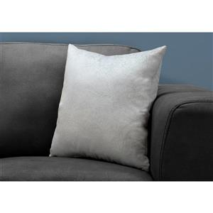 Monarch Decorative Corduroy Pillow - 18-in x 18-in - Grey