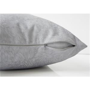 Monarch Decorative Pillow - 2 Pack -  18-in x 18-in - Grey