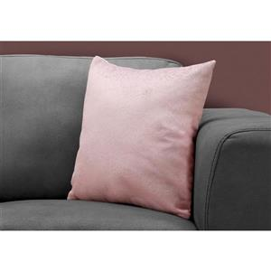 Monarch Decorative Corduroy Pillow - 18-in x 18-in - Pink