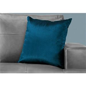 Monarch Decorative Corduroy Pillow - 18-in x 18-in - Blue