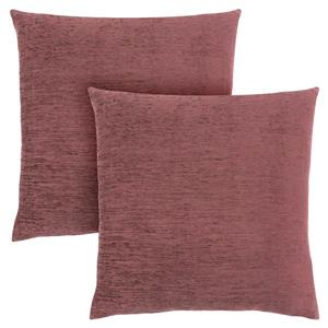 Monarch Decorative Pillow - 2 Pack - 18-in x 18-in - Pink