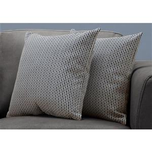 Monarch Decorative Pillow - 2 Pack - 18-in x 18-in - Blue