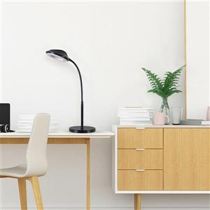 Cresswell LED Black Adjustable Gooseneck Desk Lamp