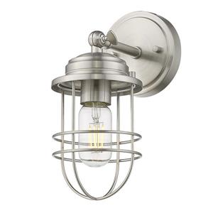 Golden Lighting Seaport 1 Light Wall Sconce in Silver