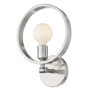 Golden Lighting Sloane 1-Light Semi-flush in Pewter
