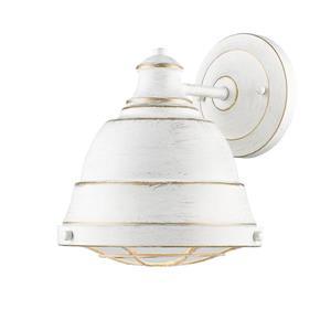 Golden Lighting Bartlett 1 Light Wall Sconce in French White