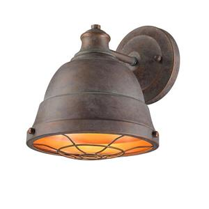 Golden Lighting Bartlett 1 Light Wall Sconce in Copper Patina