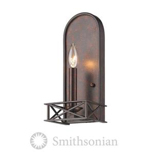 Golden Lighting SmithsonianGateway 2 Light Wall Sconce in Fired Bronze