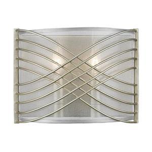 Golden Lighting Zara 2 Light Wall Sconce in White Gold