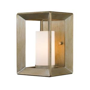 Golden Lighting Smyth 1 Light Wall Sconce in White Gold with Opal Glass