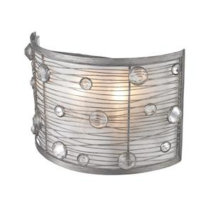 Golden Lighting Joia 1 Light Wall Sconce in Silver with Sterling Mist Shade