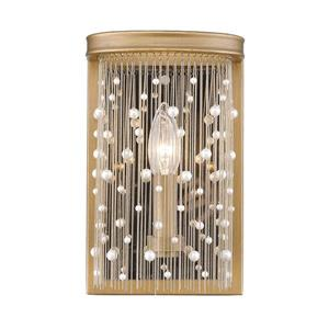 Golden Lighting Marilyn PRL Wall Sconce in Peruvian Gold with Pearl Strands