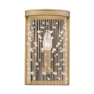 Golden Lighting Marilyn CRY Wall Sconce in Peruvian Gold and Crystal Strands